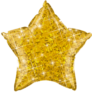 "20"" Star Gold Sparkle Foil Product Display"