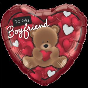 Boyfriend Gift Love Bear Balloon in a Box