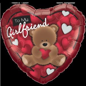 Girlfriend Gift Love Bear Balloon in a Box