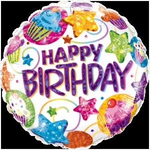 Dazzling Birthday Foil Balloon Balloon in a Box