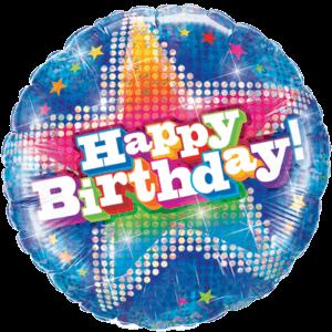 Sparkly Happy Birthday Foil Balloon Balloon in a Box