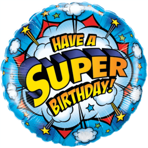 Blue Big Birthday Foil Balloon Balloon in a Box