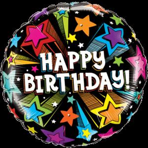 "Shooting Stars Birthday 18"" Balloon in a Box"