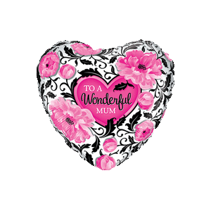 To a Wonderful Mum Floral Balloon in a Box