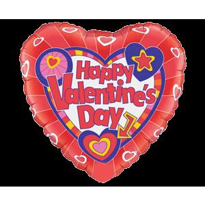 Happy Valentine's Day Heart Blast Balloon in a Box