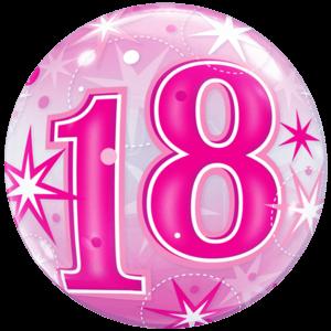 18 Sparkly Birthday Bubble Balloon in a Box