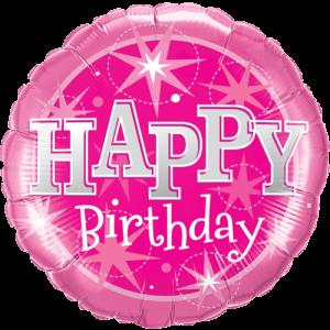 Giant Pink Happy Birthday