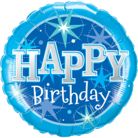 Mega Happy Birthday Blue Balloon in a Box