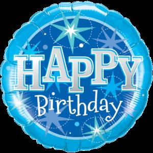 Giant Blue Happy Birthday