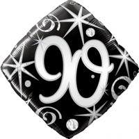 90th Elegant Swirls Balloon in a Box