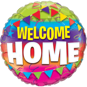 Rainbow Welcome Home Balloon in a Box