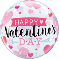 "22"" Valentine's Arrows & Hearts Pink Balloon in a Box"