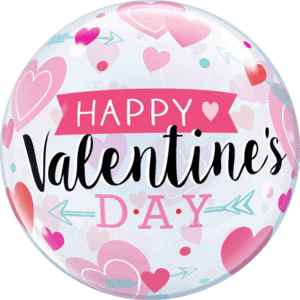 """22"""" Valentine's Arrows & Hearts Pink Balloon in a Box"""