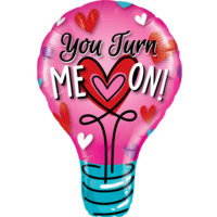 "40"" You Turn Me On! Balloon in a Box"