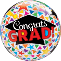 "22"" Congrats Grad Triangles & Caps Balloon in a Box"