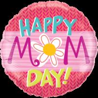 """18"""" Happy Mom Day Daisy Balloon in a Box"""