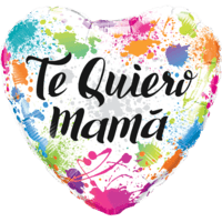 Te Quiero Mama Colour Splashes Balloon in a Box