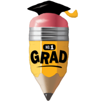 "41"" No. 1 Grad Pencil Balloon in a Box"