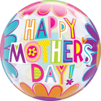 "22"" Mother's Day Colourful Flowers Balloon in a Box"