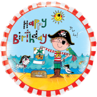 "18"" Happy Birthday Pirate Boy Balloon in a Box"