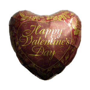 Golden Roses Happy Valentine's Day Balloon in a Box