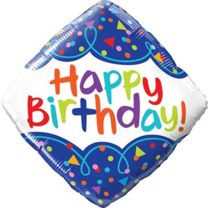 """18"""" Birthday Scribble Confetti Colourful Balloon in a Box"""