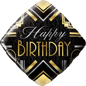 "18"" Birthday Gold Deco Balloon in a Box"