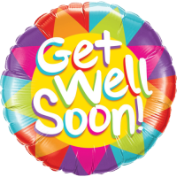Colourful Get Well Soon Sunshine Balloon in a Box
