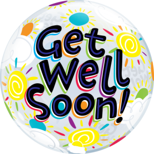 "22"" Get Well Soon! Bright Sky Balloon in a Box"