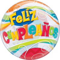 "22"" Feliz Cumpleaños Celebrations Balloon in a Box"