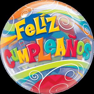 "22"" Feliz Cumpleaños Celebrations Balloon in a Box"