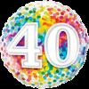 40th Birthday Single Balloon Category