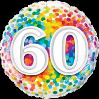 "18"" Rainbow 60 Confetti Balloon in a Box"