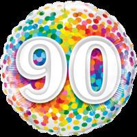 "18"" Rainbow 90 Confetti Balloon in a Box"