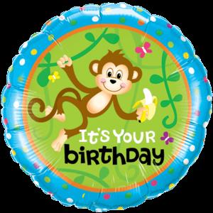 Monkey Go Bananas Birthday Balloon in a Box