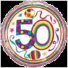 """18"""" Rachel Ellen 50th Balloon overview"""