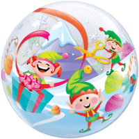 Joyful Merry Elves Balloon in a Box