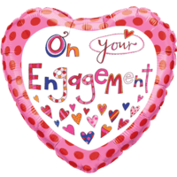 Rachel Ellen On Your Engagement Hearts Balloon in a Box