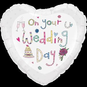 Rachel Ellen Wedding Day Colourful Sketch Balloon in a Box