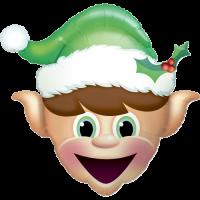 Christmas Elf Balloon in a Box