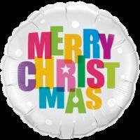 "18"" Merry Christmas Colours Balloon in a Box"
