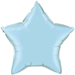 "20"" Pearl Light Blue foil Star Balloon Product Display"