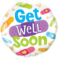 Get Well Soon Bandages Balloon in a Box