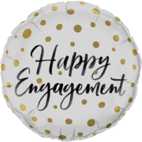 Happy Engagement Gold Dots Balloon in a Box