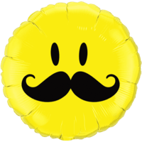 Smiley Face with Moustache Balloon in a Box