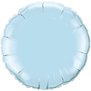 """18"""" Pearl Light Blue foil Round Balloon Product Display"""
