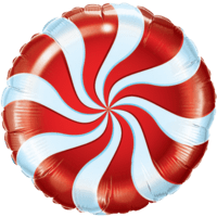 Swirly Red Print Foil Balloon Balloon in a Box