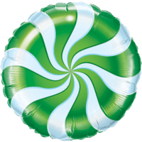 Swirly Green Print Foil Balloon Balloon in a Box