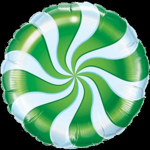 Swirly Green Print Foil Balloon Balloon in a Box