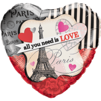 Paris Valentine Love Balloon in a Box